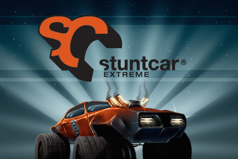 Stuntcar Extreme Zodiac Game title splash screen