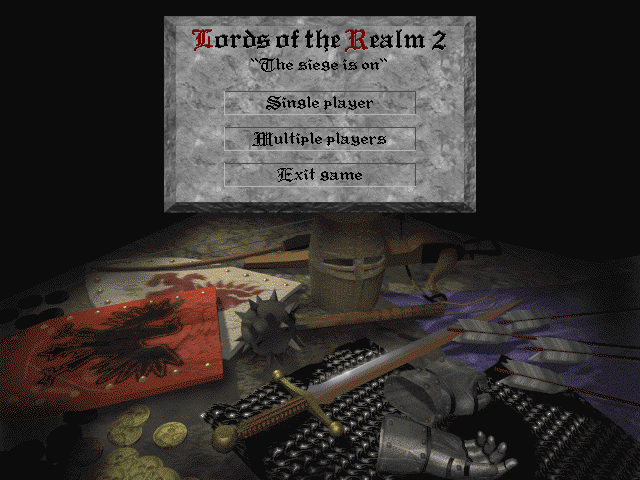 Lords of the Realm II Windows Main menu