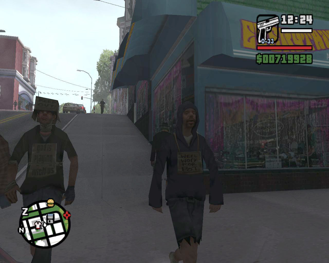 Grand Theft Auto: San Andreas Windows Two strange guys in San Fierro
