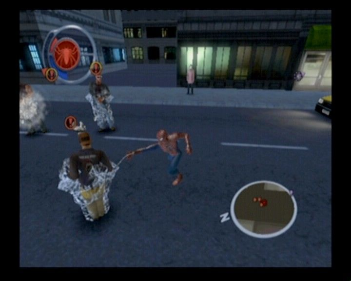 Spider-Man 2 GameCube Use your web to tie enemies when surrounded and concentrate on single target.