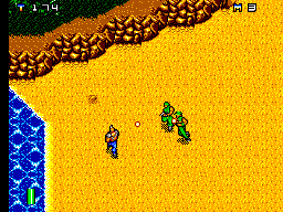 Mercs SEGA Master System Being chased by enemy soldiers