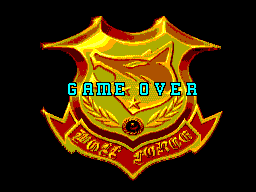 Mercs SEGA Master System Game over