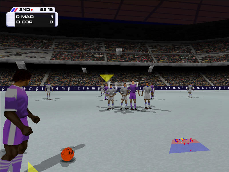Actua Soccer 3 Windows While shooting free kicks, it's possible to pull the camera to aim at goal, or push it to pass