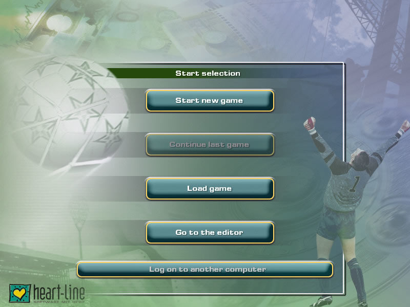 Soccer Manager Windows Main game screen