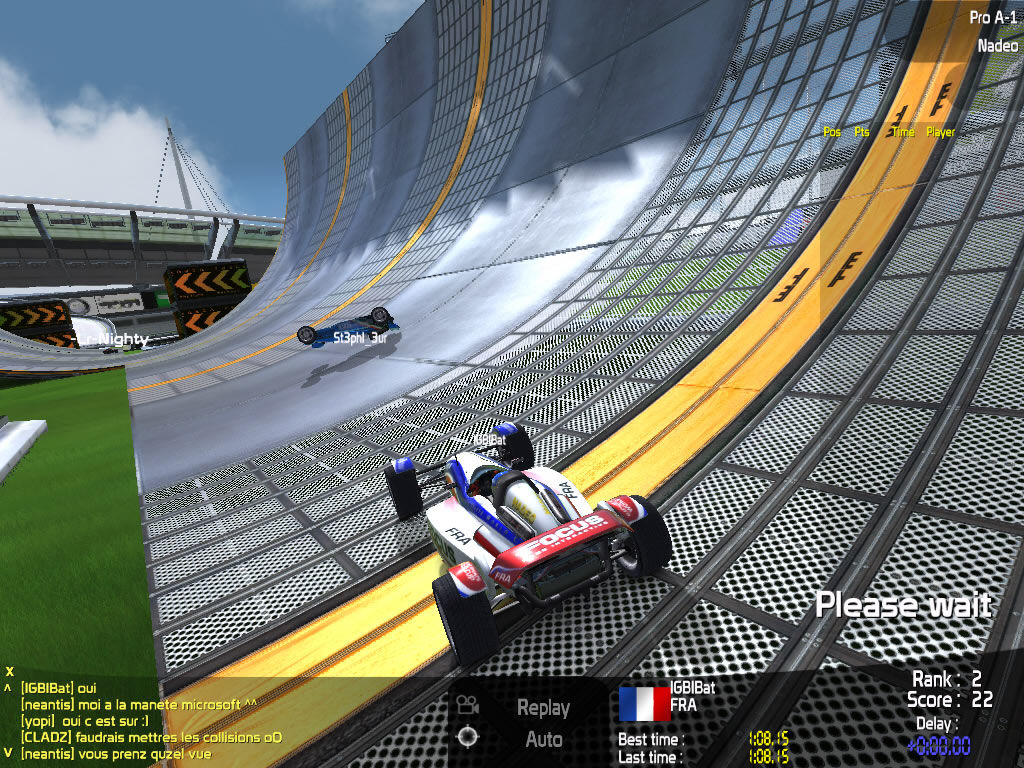 TrackMania Nations ESWC Windows Some stunts are difficult to perform, and you usually have only one try.