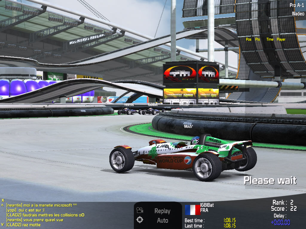 TrackMania Nations ESWC Windows Each nation has a car with the country's colours.