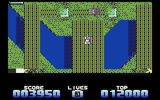 Super Tank Simulator Commodore 64 Crossing a bridge