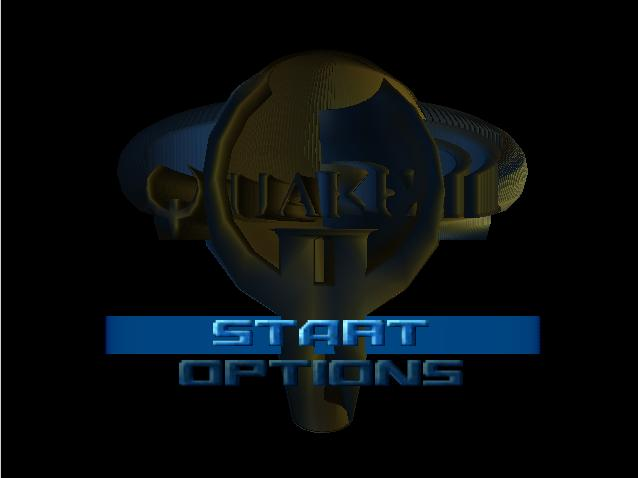 Quake II Nintendo 64 Start Menu
