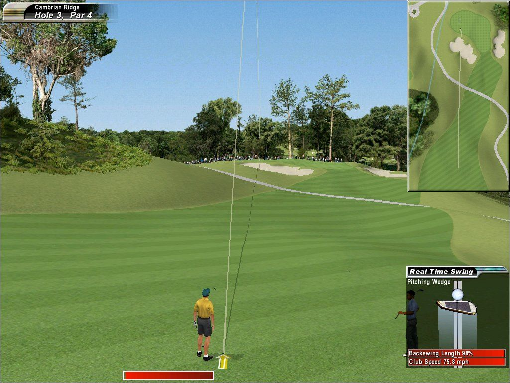 Links 2003 Windows You can choose to have the ball leave a path through the air, to help you improve your aim.