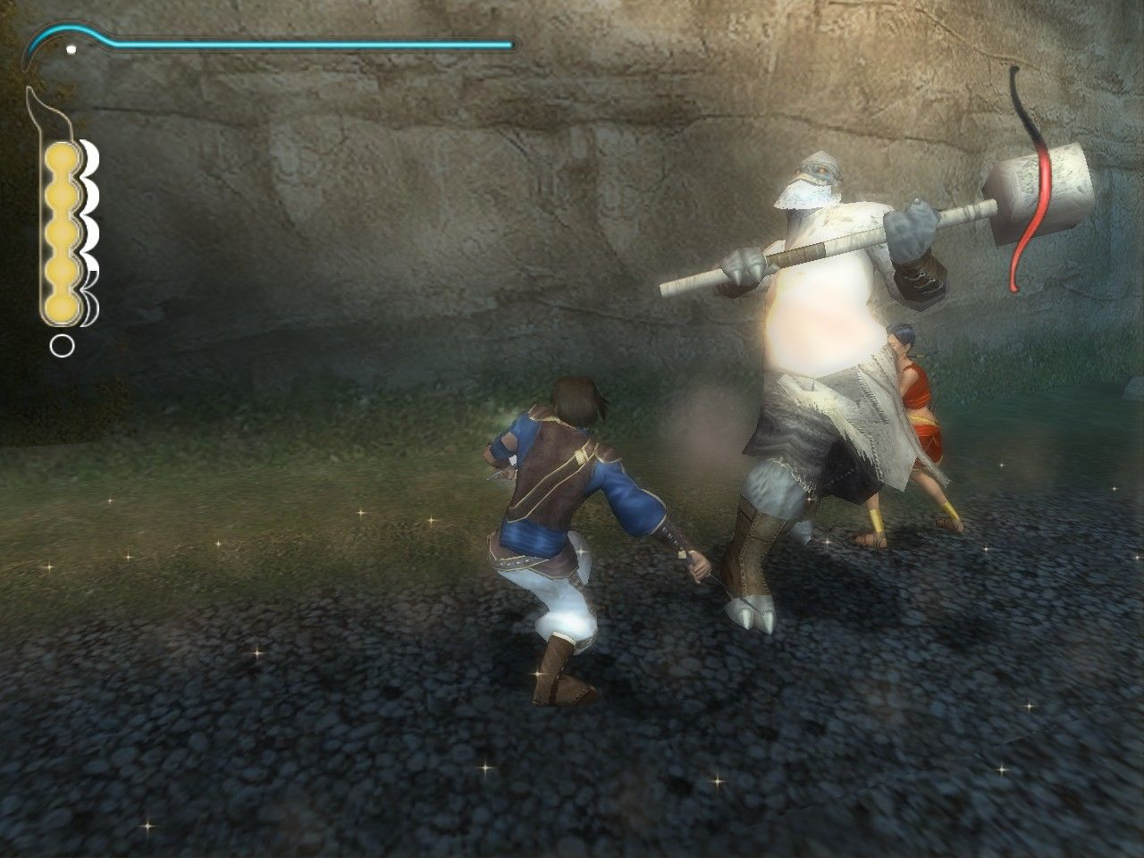 Prince of Persia: The Sands of Time Windows Freeze the enemies with your Sand Dagger.