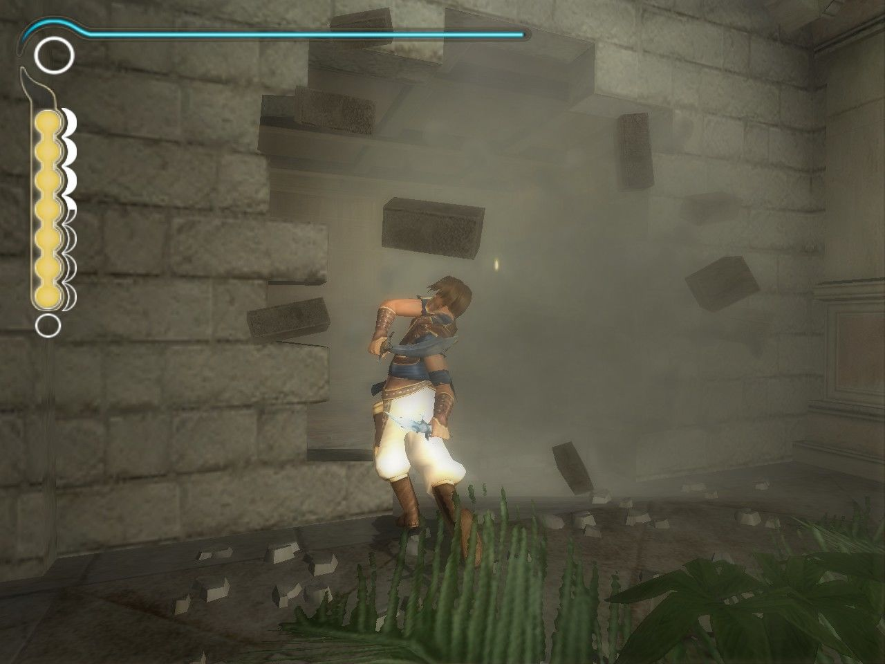 Prince of Persia: The Sands of Time Windows Second sword allows you to destroy walls.