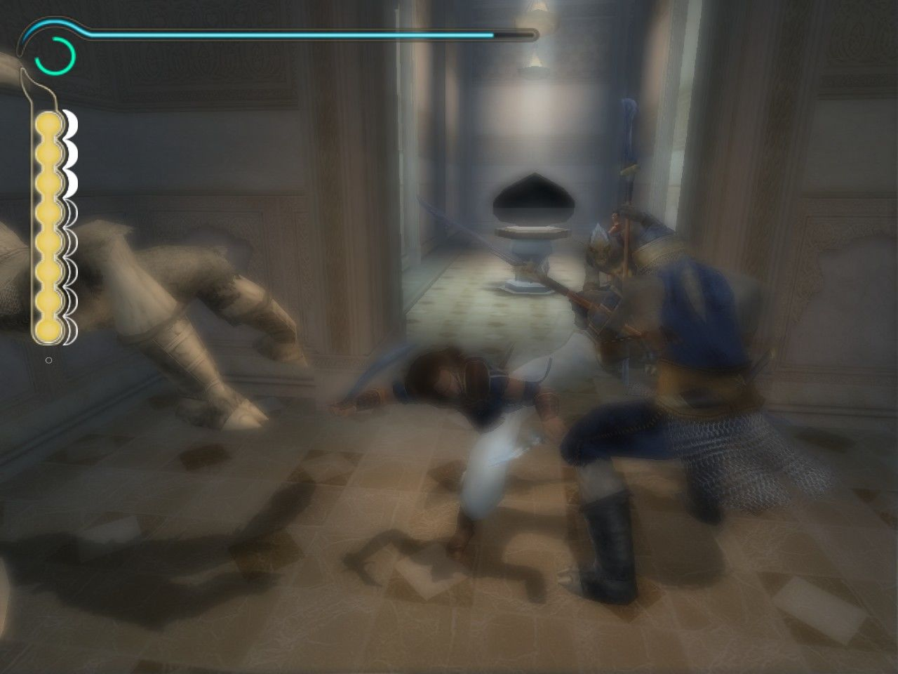 Prince of Persia: The Sands of Time Windows Slow motion is very useful when fighting with multiple enemies.