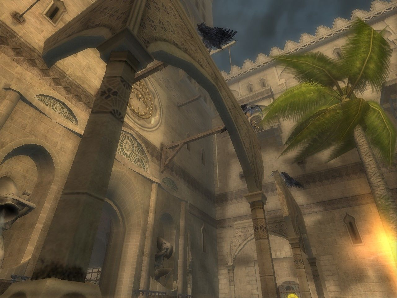 Prince of Persia: The Sands of Time Windows A first person perspective view.