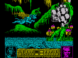 Altered Beast ZX Spectrum The second boss is giving you the eye