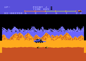Moon Patrol Atari 8-bit Avoid these landmines