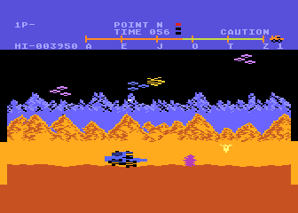 Moon Patrol Atari 8-bit An all-out alien attack!