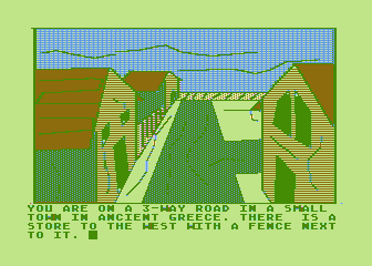 Hi-Res Adventure #4: Ulysses and the Golden Fleece Atari 8-bit The starting location