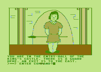 Hi-Res Adventure #4: Ulysses and the Golden Fleece Atari 8-bit Outside the king's castle