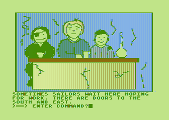 Hi-Res Adventure #4: Ulysses and the Golden Fleece Atari 8-bit You need to recruit some sailors for your ship