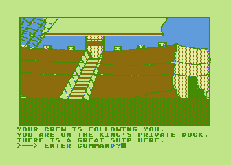 Hi-Res Adventure #4: Ulysses and the Golden Fleece Atari 8-bit The king's private dock