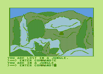 Hi-Res Adventure #4: Ulysses and the Golden Fleece Atari 8-bit Now I'm lost in a jungle
