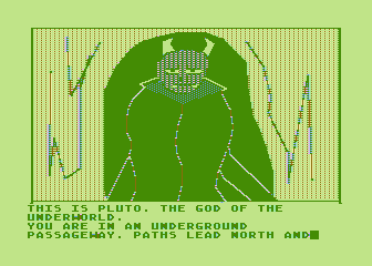 Hi-Res Adventure #4: Ulysses and the Golden Fleece Atari 8-bit Uh oh, it's a god of the underworld!