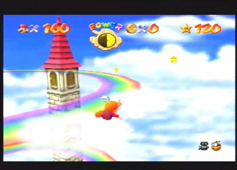 Super Mario 64 Nintendo 64 One of the excellent flying subgames.
