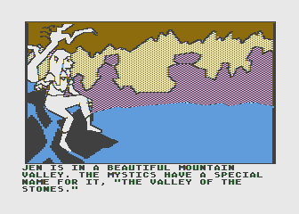Hi-Res Adventure #6: The Dark Crystal Atari 8-bit The game begins here