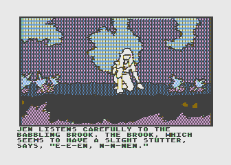 Hi-Res Adventure #6: The Dark Crystal Atari 8-bit Listening to see if the brook has anything to say