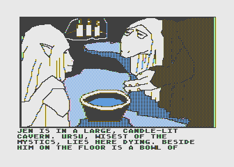 Hi-Res Adventure #6: The Dark Crystal Atari 8-bit Visiting Ursu the mystic