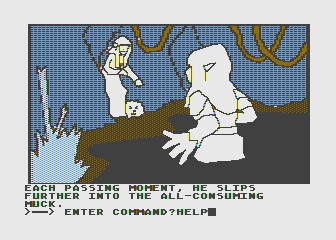 Hi-Res Adventure #6: The Dark Crystal Atari 8-bit Stuck in a swamp; could use some help here!