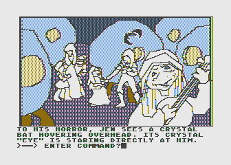 Hi-Res Adventure #6: The Dark Crystal Atari 8-bit That crystal bat appears all over the place