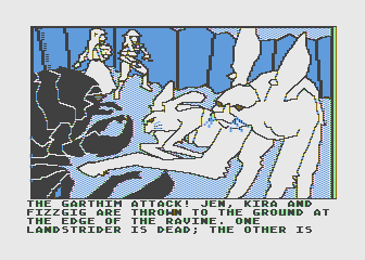 Hi-Res Adventure #6: The Dark Crystal Atari 8-bit Uh oh, it's an attack!