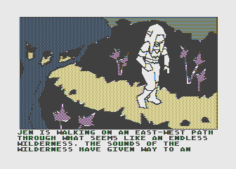 Hi-Res Adventure #6: The Dark Crystal Atari 8-bit Hmm, I wonder where this east-west path will take me...