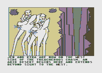 Hi-Res Adventure #6: The Dark Crystal Atari 8-bit Ride these tall creatures across all sorts of terrain