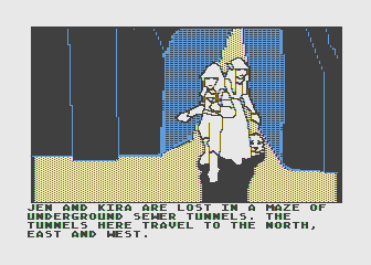Hi-Res Adventure #6: The Dark Crystal Atari 8-bit Wouldn't be an adventure game without an underground maze to get lost in