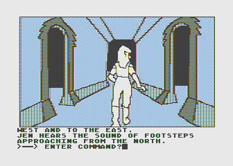 Hi-Res Adventure #6: The Dark Crystal Atari 8-bit Uh oh, footsteps approaching!