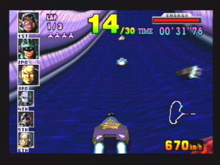 F-Zero X Nintendo 64 More tunnel action