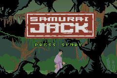 Samurai Jack: The Amulet of Time Game Boy Advance Title screen