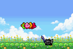 Kirby & The Amazing Mirror Game Boy Advance Intro: When confronted by the dark knight, Kirby was split into 4.