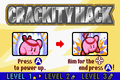 Kirby & The Amazing Mirror Game Boy Advance Crackity Hack: Instructions