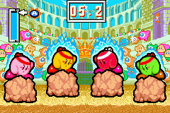 Kirby & The Amazing Mirror Game Boy Advance Crackity Hack: Try to press A when the meter reaches the arrow
