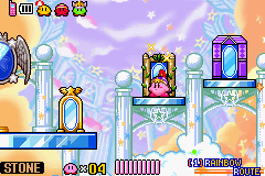 Kirby & The Amazing Mirror Game Boy Advance Each mirror will lead to a different world.