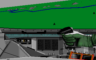 F-16 Combat Pilot Amiga Right-hand cockpit view