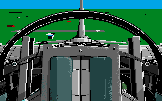 F-16 Combat Pilot Amiga Rear cockpit view