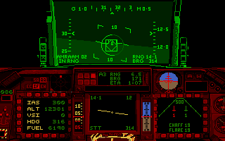 F-16 Combat Pilot Amiga Flying a night mission