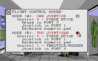 F-16 Combat Pilot Amiga You can use two joysticks: one for flight controls, the other for throttle/rudder