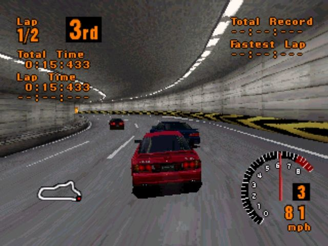 Gran Turismo PlayStation Over the river and through some tunnels... Gran Turismo tracks cover a number of different sceneries.