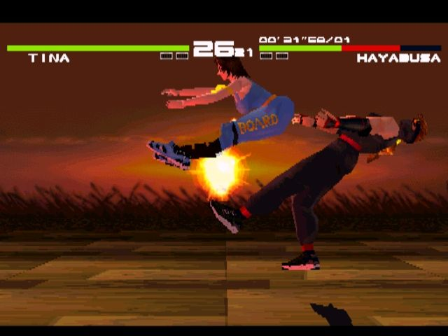 Dead or Alive PlayStation Every inch a weapon. You don't often see flying bottom attacks in fighting games.