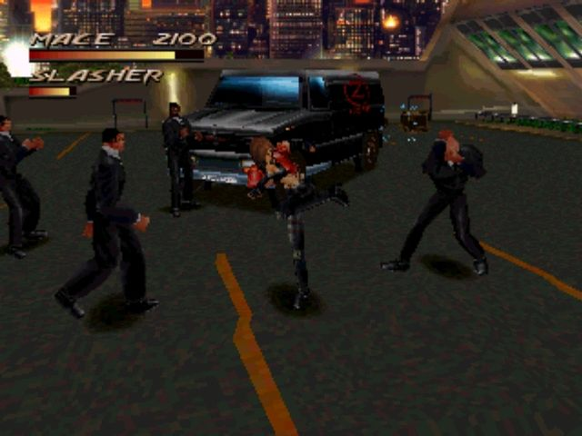 Fighting Force PlayStation Classic beat'em'up gameplay. One against many...except their stupid and usually follow Hollywood bad guy rules about attacking one at a time.